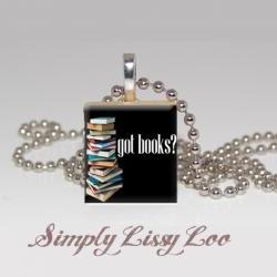 Got Books  Scrabble Tile Necklace
